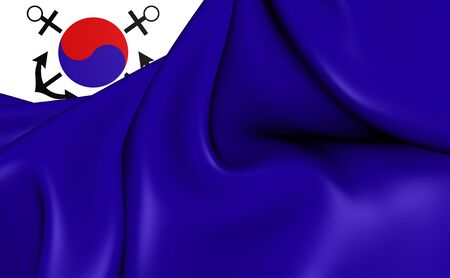 naval: 3D Naval Jack of the South Korea. Close Up.