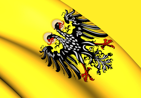 holy roman emperor: 3D Flag of Holy Roman Empire (1400-1806). Close Up. Stock Photo