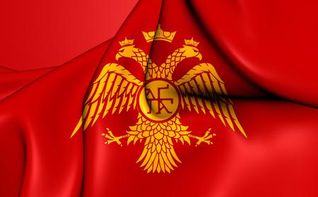 dynasty: Byzantine Eagle, Flag of Palaiologos Dynasty. Close Up.