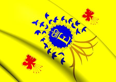 barbadian: Royal Standard of Barbados. Close Up.