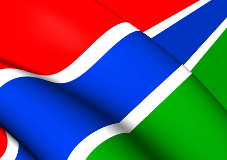 flutter: 3D Flag of the Gambia. Close Up.