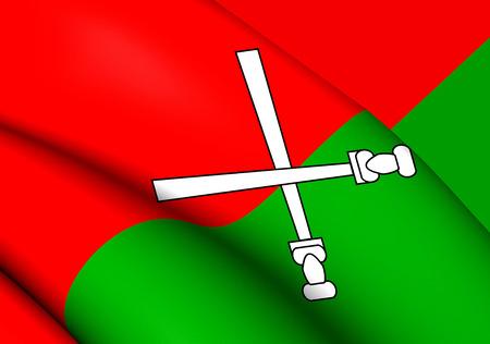 li: 3D Flag of the Li and Miao. Close Up.