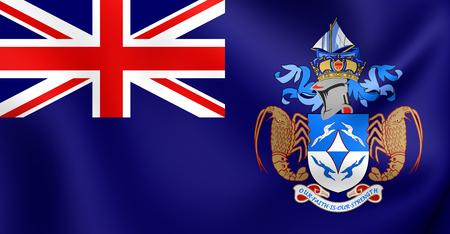 da: 3D Flag of the Tristan da Cunha. Close Up.
