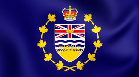 british columbia: Lieutenant-Governor of British Columbia 3D Flag, Canada. Close Up. Stock Photo