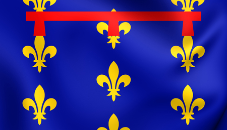 naples: Kingdom of Naples 3D Flag. Close Up. Stock Photo