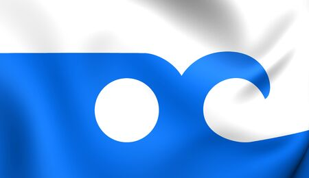 oc: 3D Flag of the Ocean City, Maryland. Close Up.
