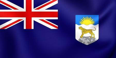 protectorate: 3D Flag of the Nyasaland Protectorate (1919-1964). Close Up. Stock Photo