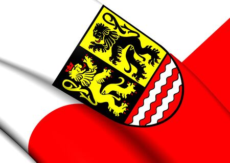 orla: 3D Flag of the Saale-Orla, Germany. Close Up. Stock Photo