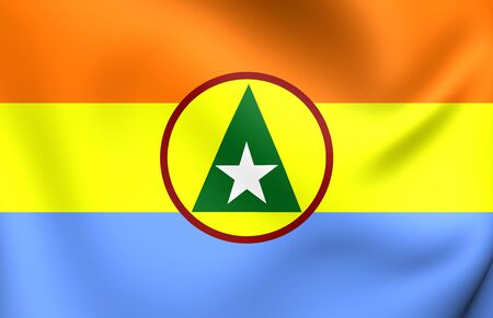 enclave: Unofficial  Flag of Cabinda, Front for the Liberation of the Enclave of Cabinda. Close Up.