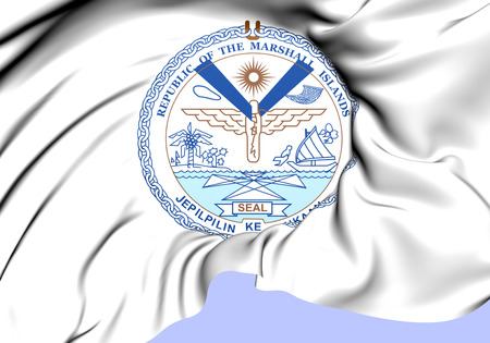 marshall: Republic of the Marshall Islands Seal. Close Up.