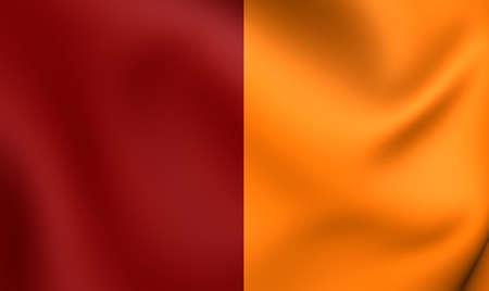 roma: 3D Flag of the Roma, Italy. Close Up. Stock Photo