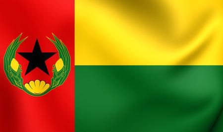 cape verde flag: 3D Flag of the Cape Verde (1975-1992). Close Up. Stock Photo