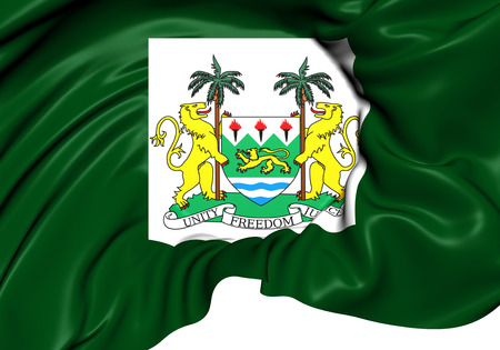 presidental: 3D President Standard of the Sierra Leone. Close Up.