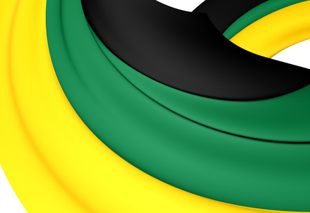 congress: 3D Flag of the African National Congress. Close Up. Stock Photo