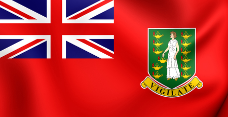 virgin islands: 3D Civil Ensign of British Virgin Islands. Close Up.