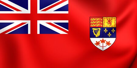 ensign: Canadian Red Ensign (1957-1965). Close Up. Stock Photo