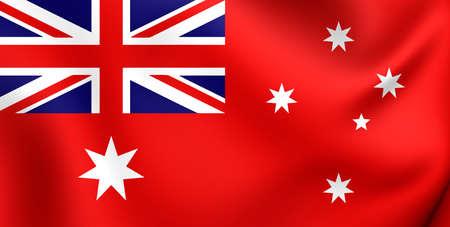 ensign: 3D Civil Ensign of Australia. Close Up. Stock Photo