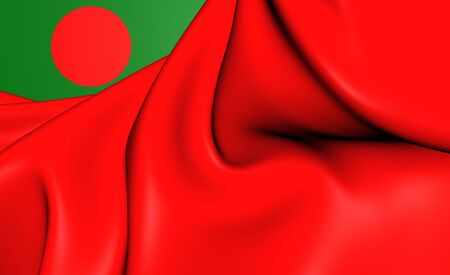 chorąży: 3D Civil Ensign of the Bangladesh. Close Up.