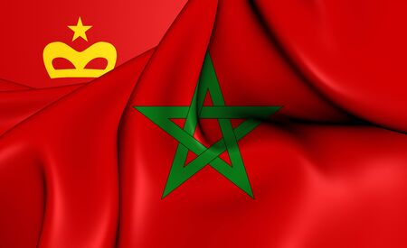 civil: 3D Civil Ensign of the Morocco. Close Up.