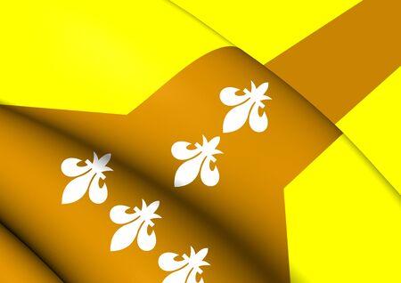 dorado: 3D Flag of Dorado, Puerto Rico. Close Up.