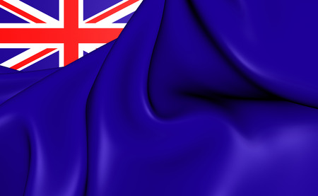 ensign: 3D Government Ensign of United Kingdom. Close Up.