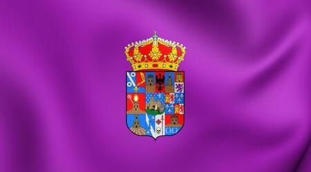 castilla: 3D Flag of the Guadalajara Province, Spain. Close Up.