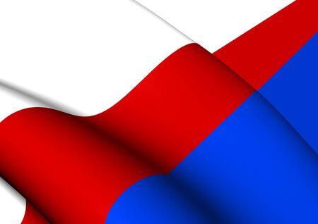 bandera de puerto rico: Bandera 3D de Manat�, Puerto Rico. Acercamiento.