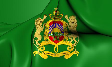 standard: 3D Royal Standard of Morocco. Close Up.