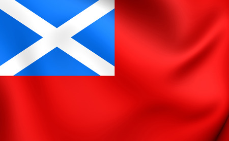 scots: Scottish Red 3D Ensign. Close Up.