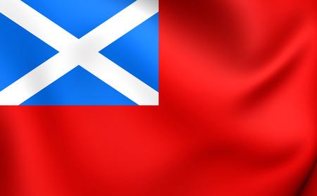 ensign: Scottish Red 3D Ensign. Close Up.