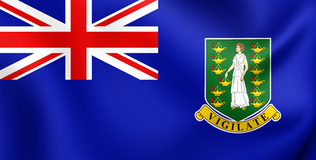 virgin islands: 3D Flag of British Virgin Islands. Close Up. Stock Photo