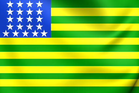 brazilian flag: First Republican Brazilian Flag, United States of Brazil (november 15-19, 1889). Close Up. Stock Photo