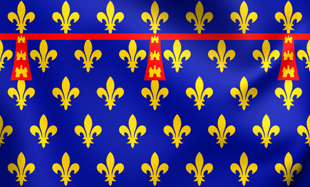 county: County of Artois 3D Flag. Close Up.
