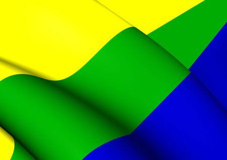 municipality: 3D Flag of Corozal Municipality, Puerto Rico. Close Up. Stock Photo