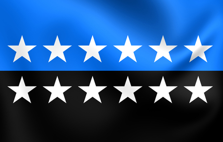 standard steel: European Coal and Steel Community Flag. Close Up.
