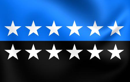 european community: European Coal and Steel Community Flag. Close Up.
