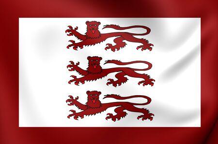cymru: Alternative Flag of Llywelyn ap Gruffydd. Close Up.