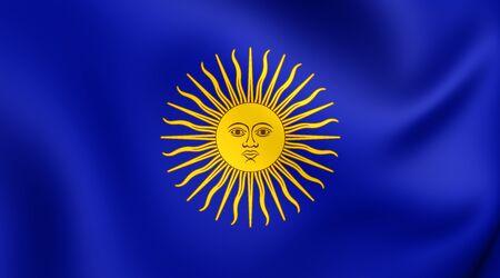 regiment: 3D Flag of Tacna Regiment (1820). Close Up.