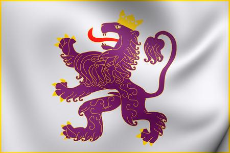 former: Kingdom of Leon 3D Flag. Close Up.