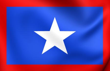 costa: 3D Flag of San Jose Province, Costa Rica. Close Up.