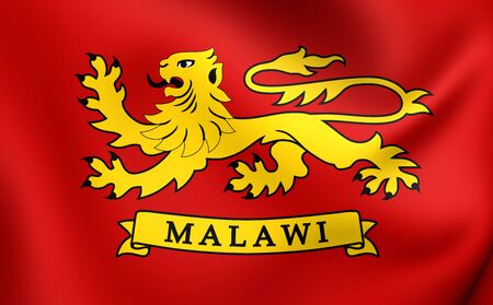 malawian flag: President of Malawi 3D Standard. Close Up.