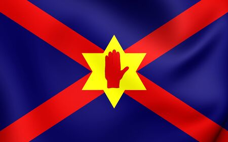 nationalists: Unofficial Flag of the Ulster Nation. Close Up. Stock Photo