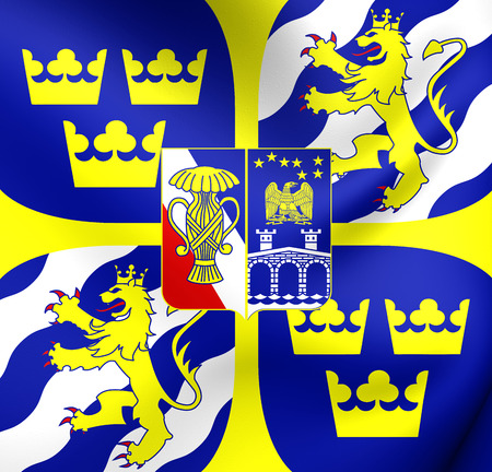 command: King of Sweden Personal Command Sign. Close Up.
