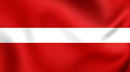 3d flag: 3D Flag of the Latvia. Close Up.