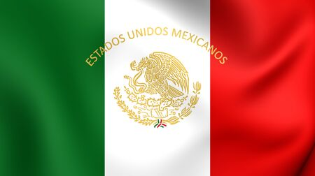 presidential: Mexican Presidential Standard. Close Up.
