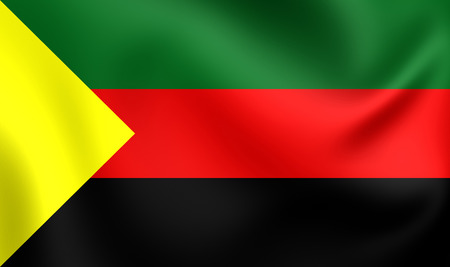 liberation: National Movement for the Liberation of Azawad Flag. Close Up.