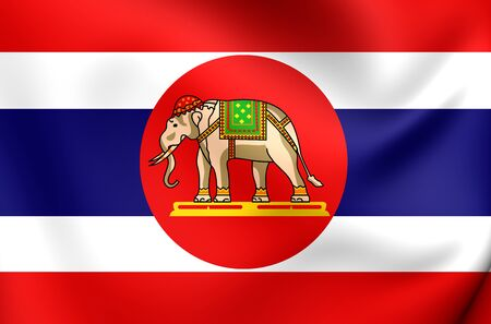 naval: 3D Naval Ensign of Thailand. Close Up.