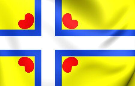 all european flags: All Frisian Flag. Close Up.