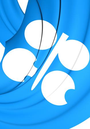 opec: 3D Flag of the OPEC. Close Up.