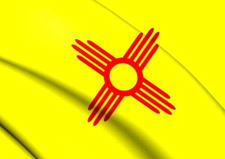 new mexico: Flag of New Mexico, USA. Close Up.